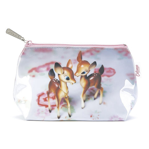 Catseye Deer On Rose Make-Up Bag