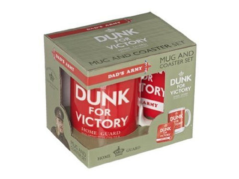 Dads Army Dunk For Victory Mug & Coaster Set
