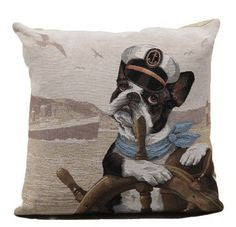 French Bulldog Sailor Cushion