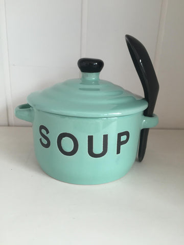 Mint Soup Bowl & Spoon
