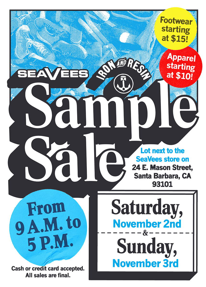 Iron & Resin x SeaVees Sample Sale in Santa Barbara, CA!