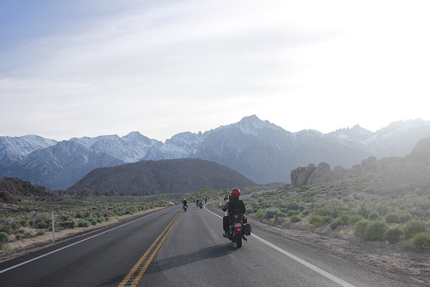 death valley alabama hills harley davidson chopper motorcycle camping