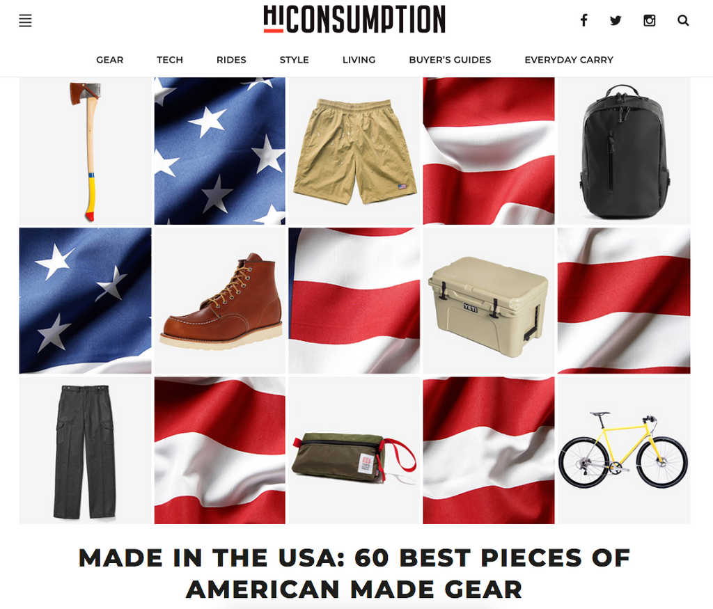 HiConsumption.com 60 Best Pieces of American Made Gear