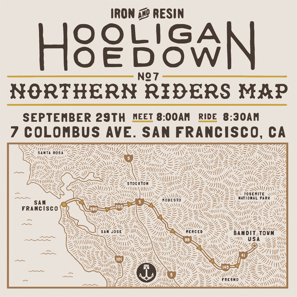 Hooligan Hoedown Northern California Group Ride Route Map