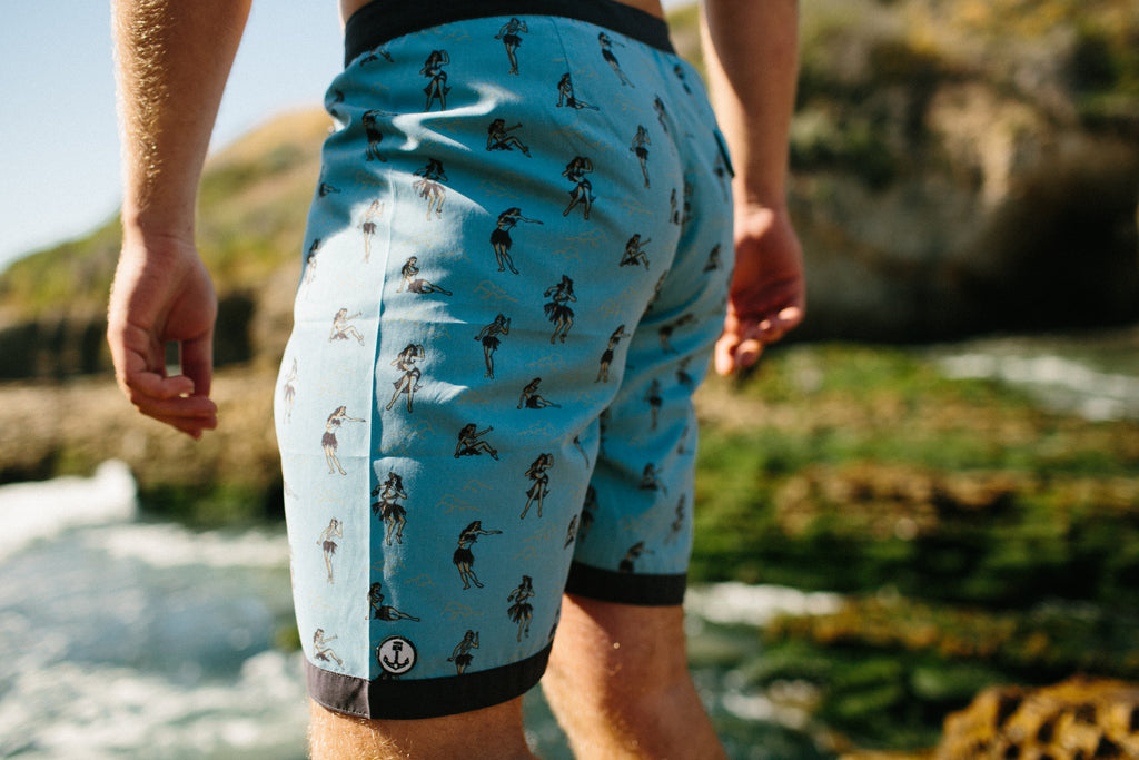 Iron and Resin Haole Boardshort Back