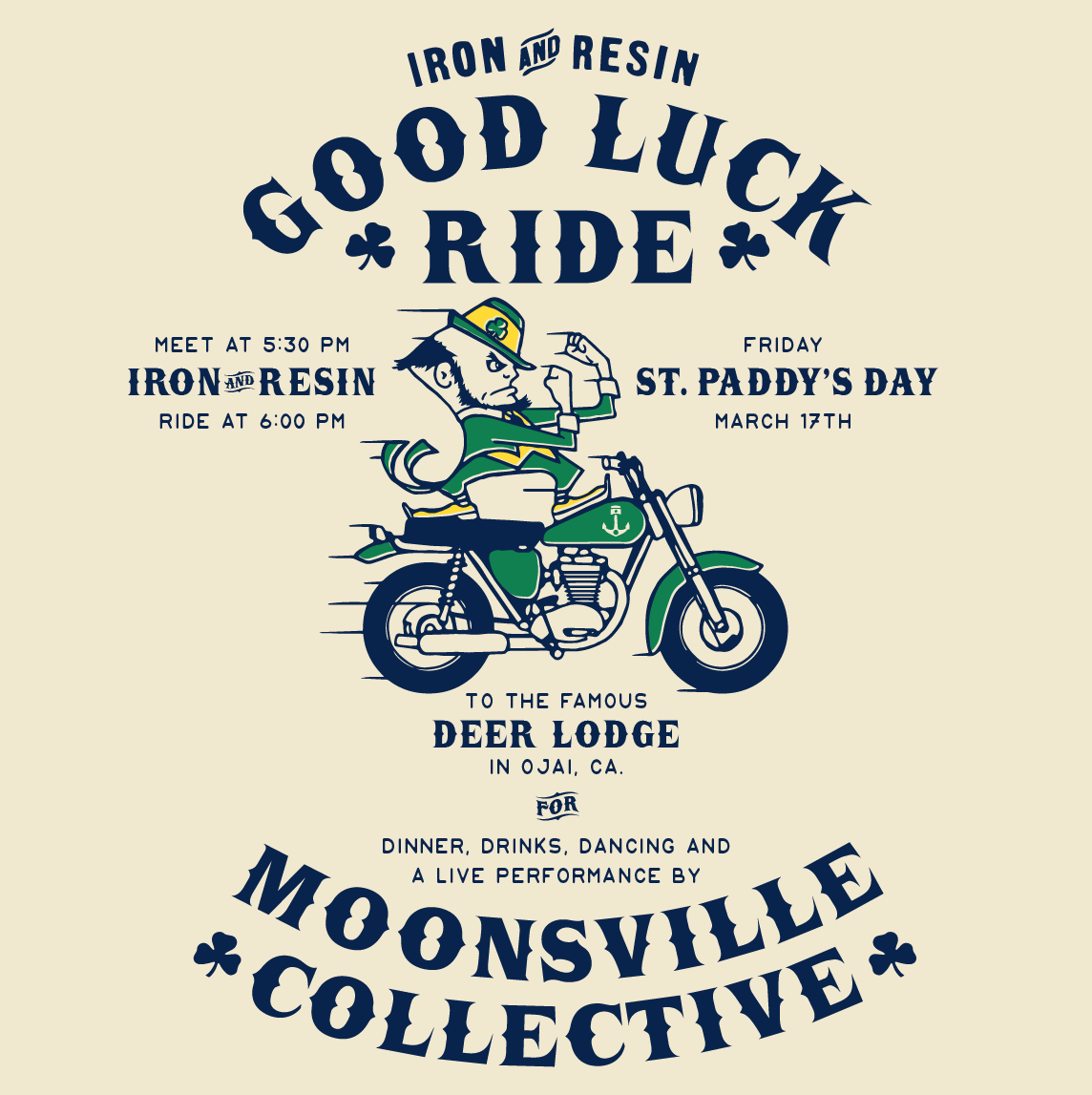 good luck ride st paddys motorcycle