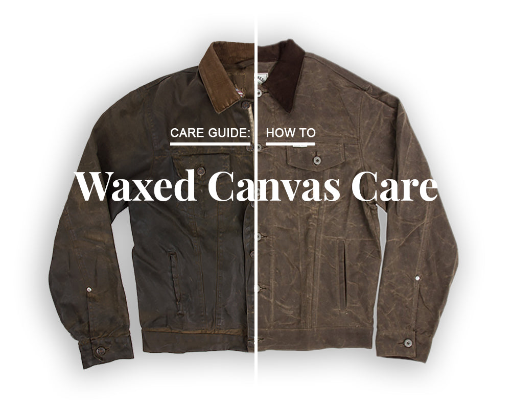 iron and resin waxed canvas rambler jacket care guide
