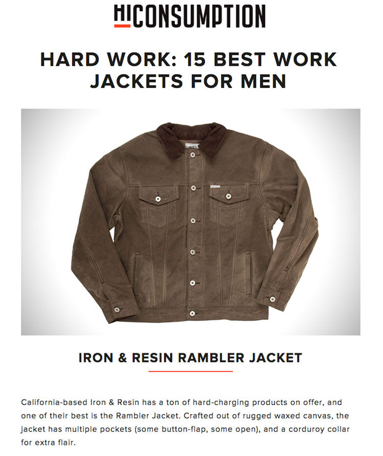 The Rambler Jacket on HiConsumption