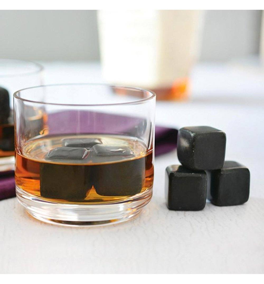 Teroforma Whisky Stones Beverage Cubes BLACK (Set of 9) - Kitchen/Bar - Iron and Resin