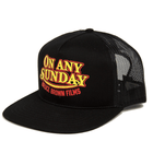 INR x Bruce Brown Films  On Any Sunday Trucker Hat - Accessories: Headwear: Men's - Iron and Resin