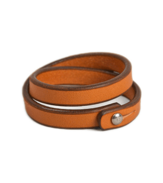 Tanner Goods - Double Wrap Wristband - Jewelry: Men's: Leather - Iron and Resin