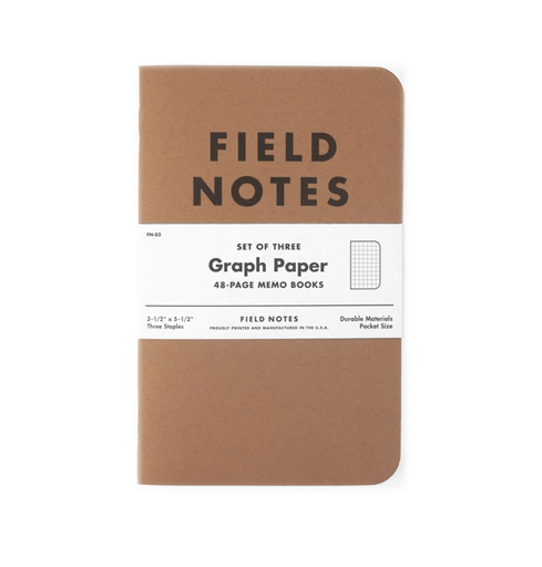 Field Notes Notebooks: Graph - Home Essentials - Iron and Resin