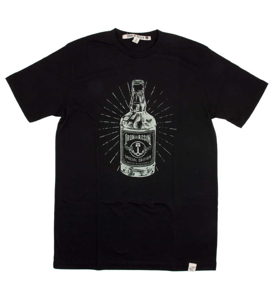 INR LImited Edition Whiskey Bottle T-Shirt - Apparel: Men's: T-Shirts - Iron and Resin