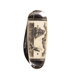 Scrimshaw Pocket Knife - Accessories: Knives - Iron and Resin