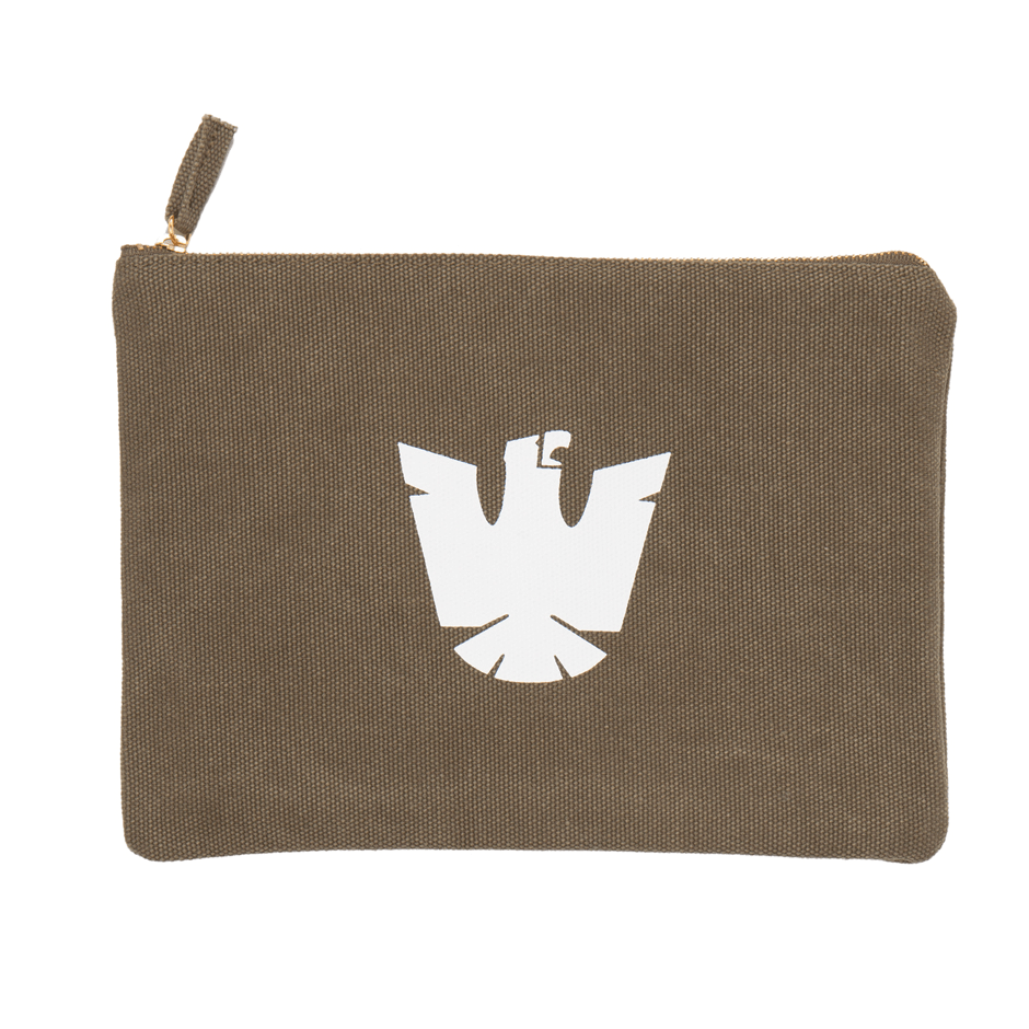 IZOLA EAGLE ZIPPER POUCH - Grooming: Dopp Kit - Iron and Resin