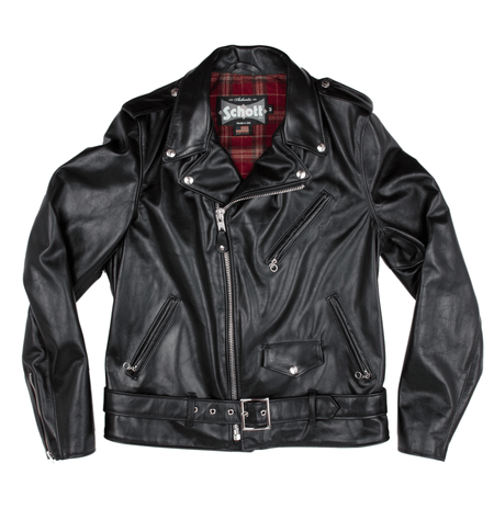 Schott Cowhide Fitted Motorcycle Jacket - Apparel: Men's: Outerwear - Iron and Resin