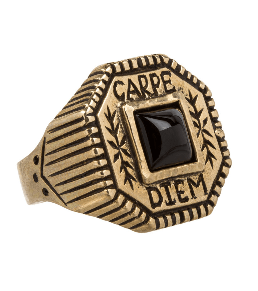 LHN Carpe Diem Ring - Jewelry: Men's - Iron and Resin