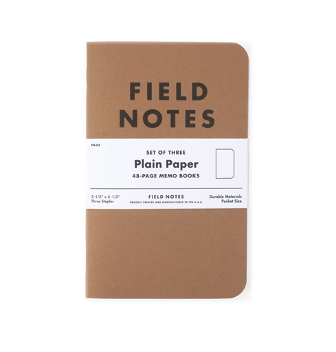 Field Notes Notebooks: Plain
