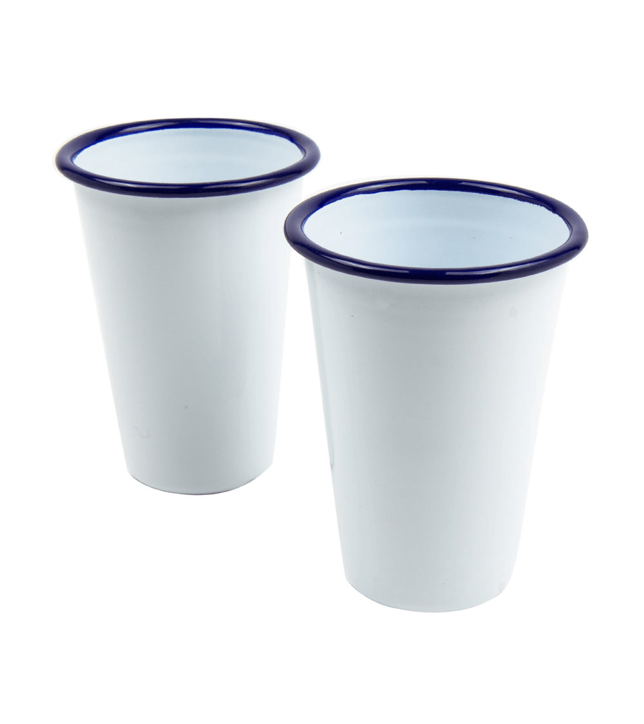 W&P Enamel Cocktail Tumblers - Kitchenware - Iron and Resin