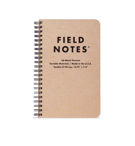 Field Notes 56-WEEK PLANNER - Kraft - Planner 4.75x7.5 - Home Essentials - Iron and Resin
