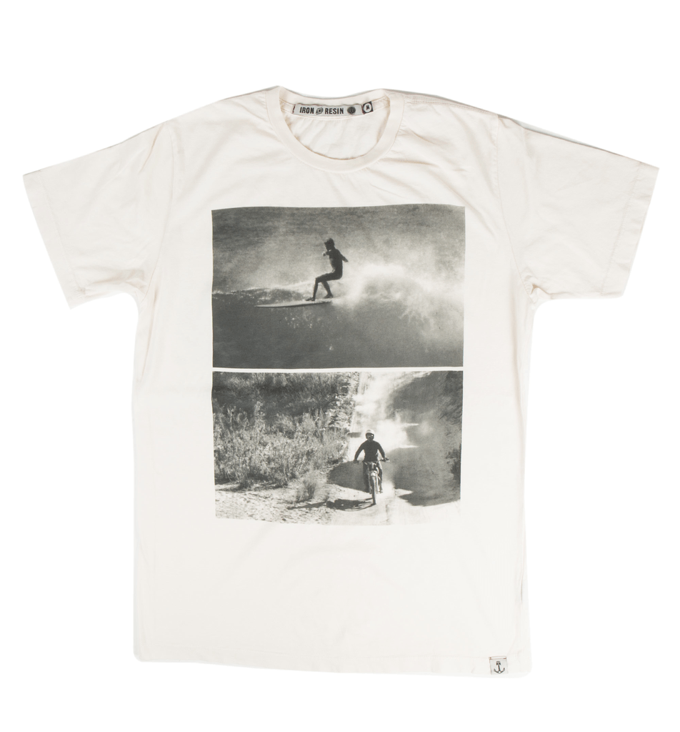 INR x Bruce Brown Films Surf Moto T-Shirt - Apparel: Men's: T-Shirts - Iron and Resin