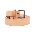 Yellow 108 Leather Belt - Accessories: Belts: Men's - Iron and Resin