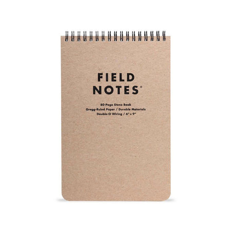 Field Notes 80-PAGE STENO BOOK - Kraft - Steno 6x9 - Home Essentials - Iron and Resin