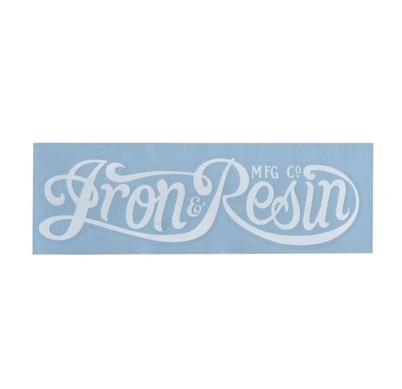 Iron & Resin Script Diecut - Stickers/Pins/Patches - Iron and Resin