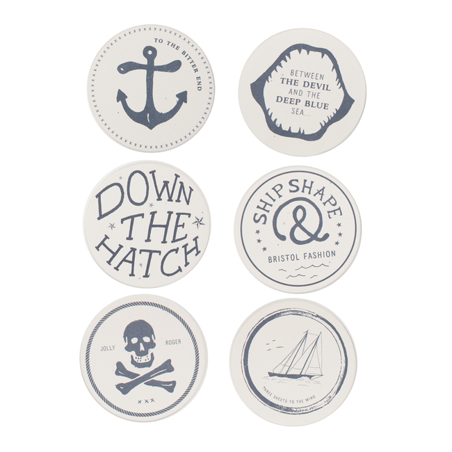 Izola Maritime Coasters - Houseware - Iron and Resin