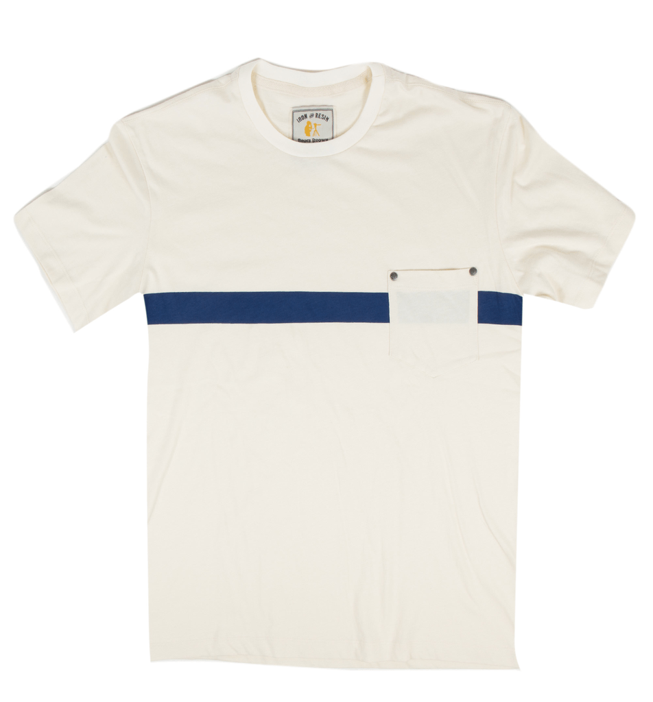 INR x Bruce Brown Films August Pocket Stripe T-Shirt - Apparel: Men's: T-Shirts - Iron and Resin