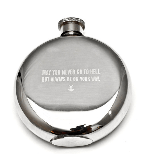Izola May You Never... Flask 5oz - Kitchenware - Iron and Resin