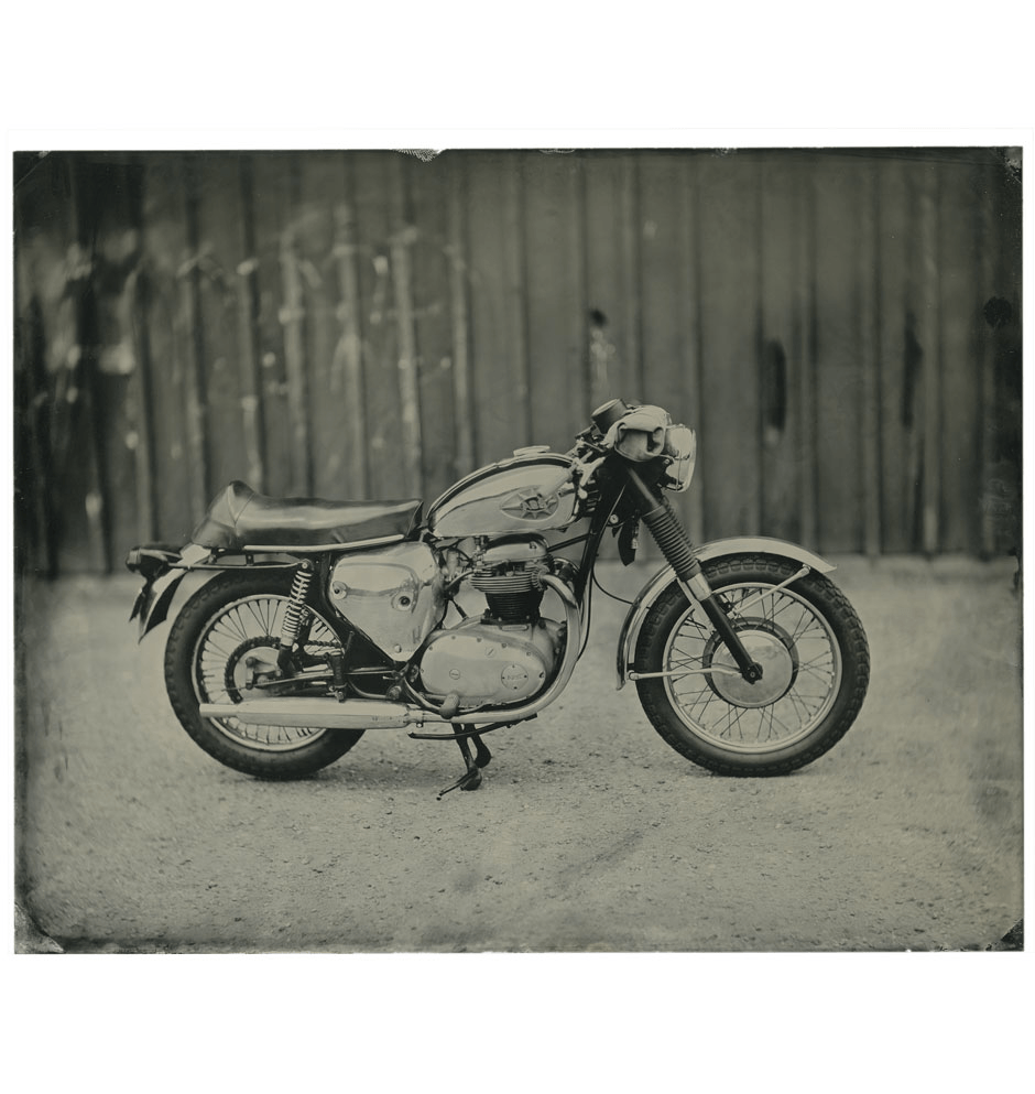 Lisa Dodge Tin Type- BSA - Art - Iron and Resin
