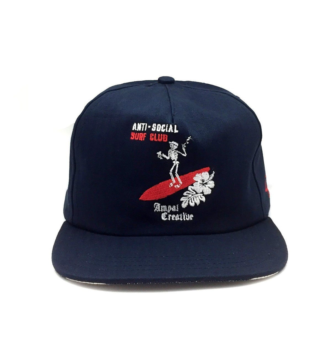 The Ampal Creative ASSC Skeleton Strapback - Navy - Headwear - Iron and Resin