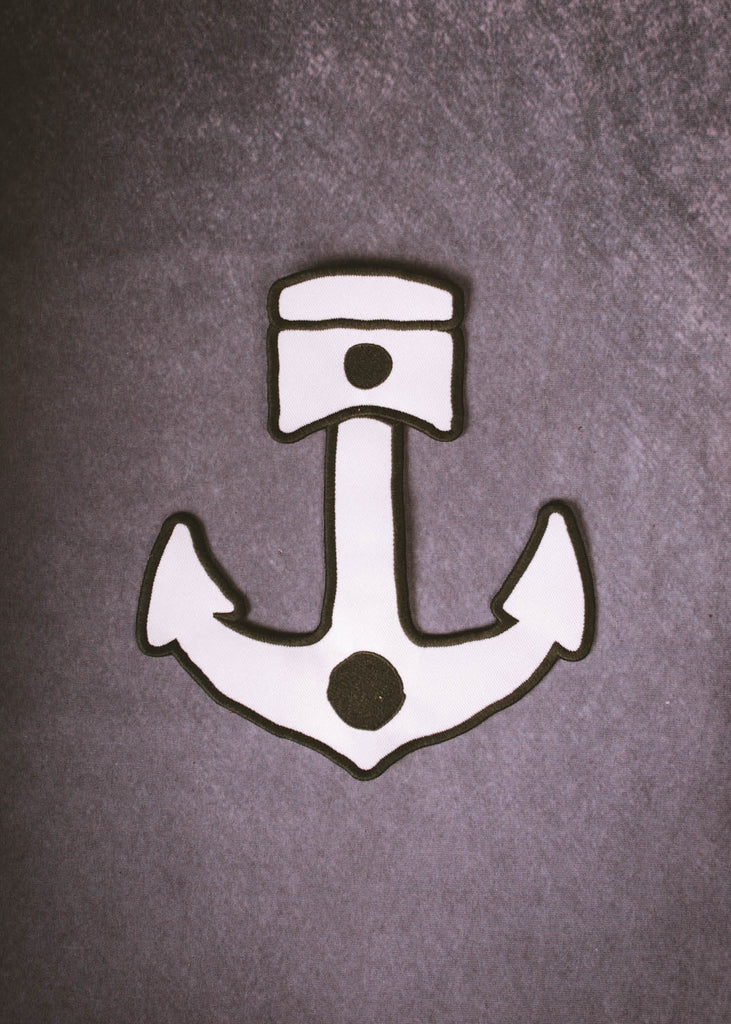 Iron & Resin Anchor Piston Back Patch