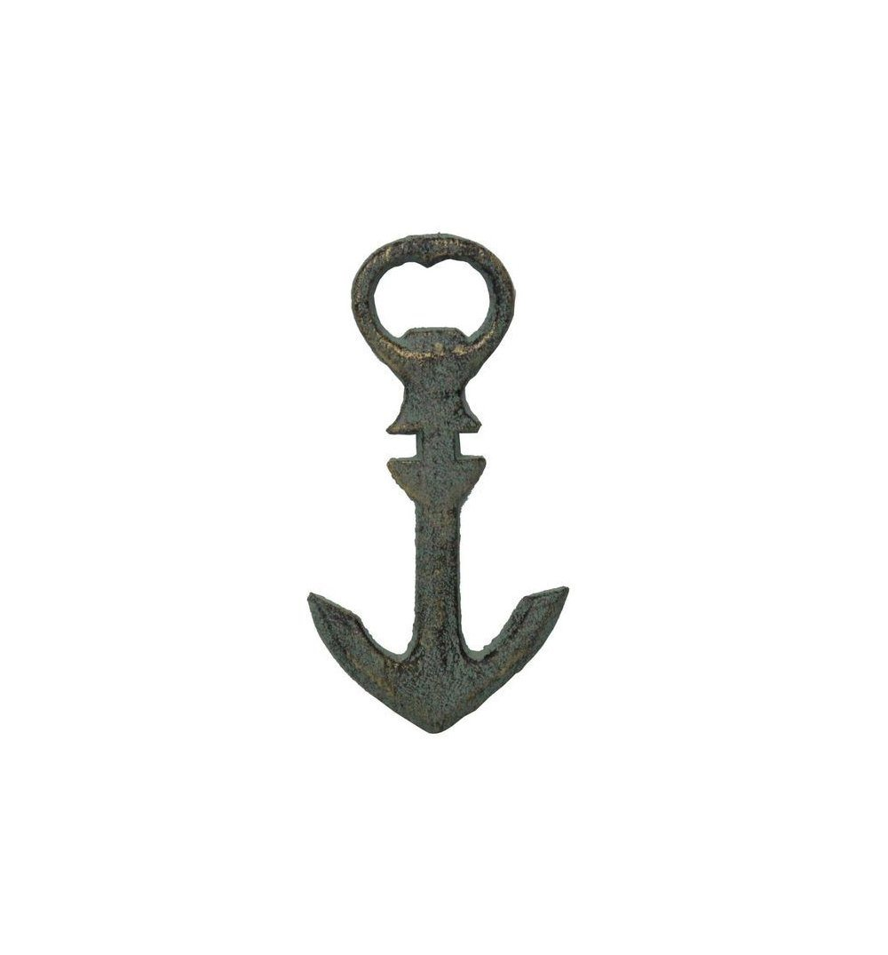 Antique Seaworn Anchor Bottle Opener - Kitchen/Bar - Iron and Resin