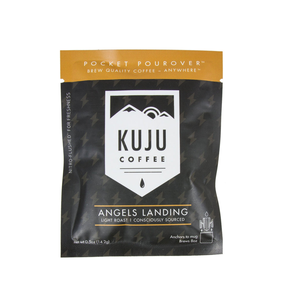 Kuju Coffee Pocket Pourover, Angels Landing - Food: Coffee - Iron and Resin