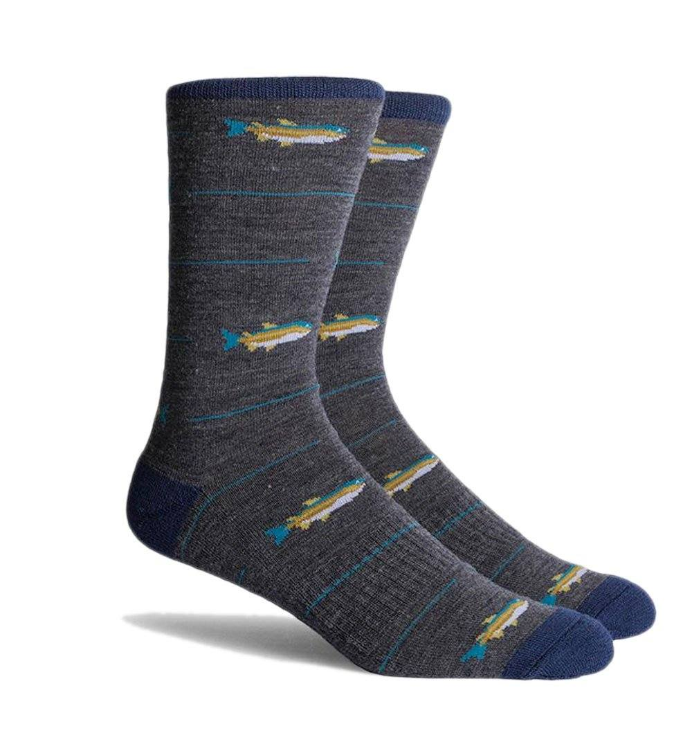 Richer Poorer Inc Angler Sock - Charcoal - Socks/Underwear - Iron and Resin