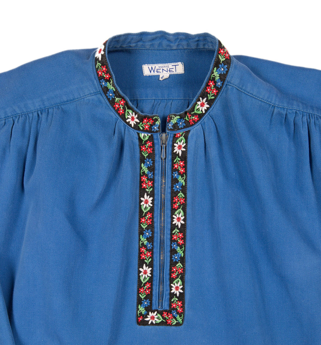 Vintage Floral Embroidered Top - Vintage: Women's - Iron and Resin