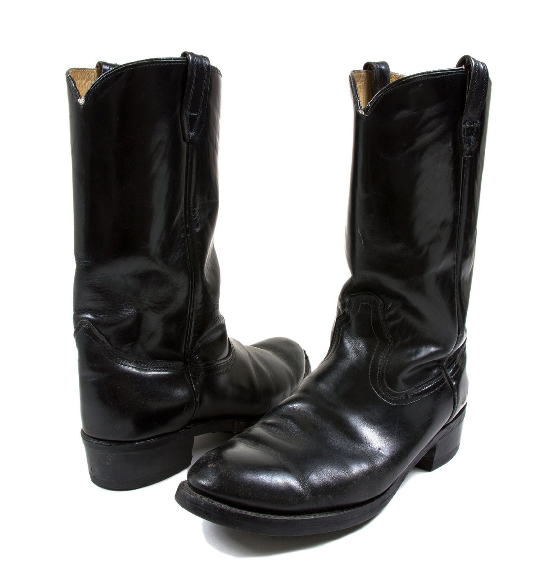 Vintage Black Leather Biltrite Boots - Vintage - Iron and Resin
