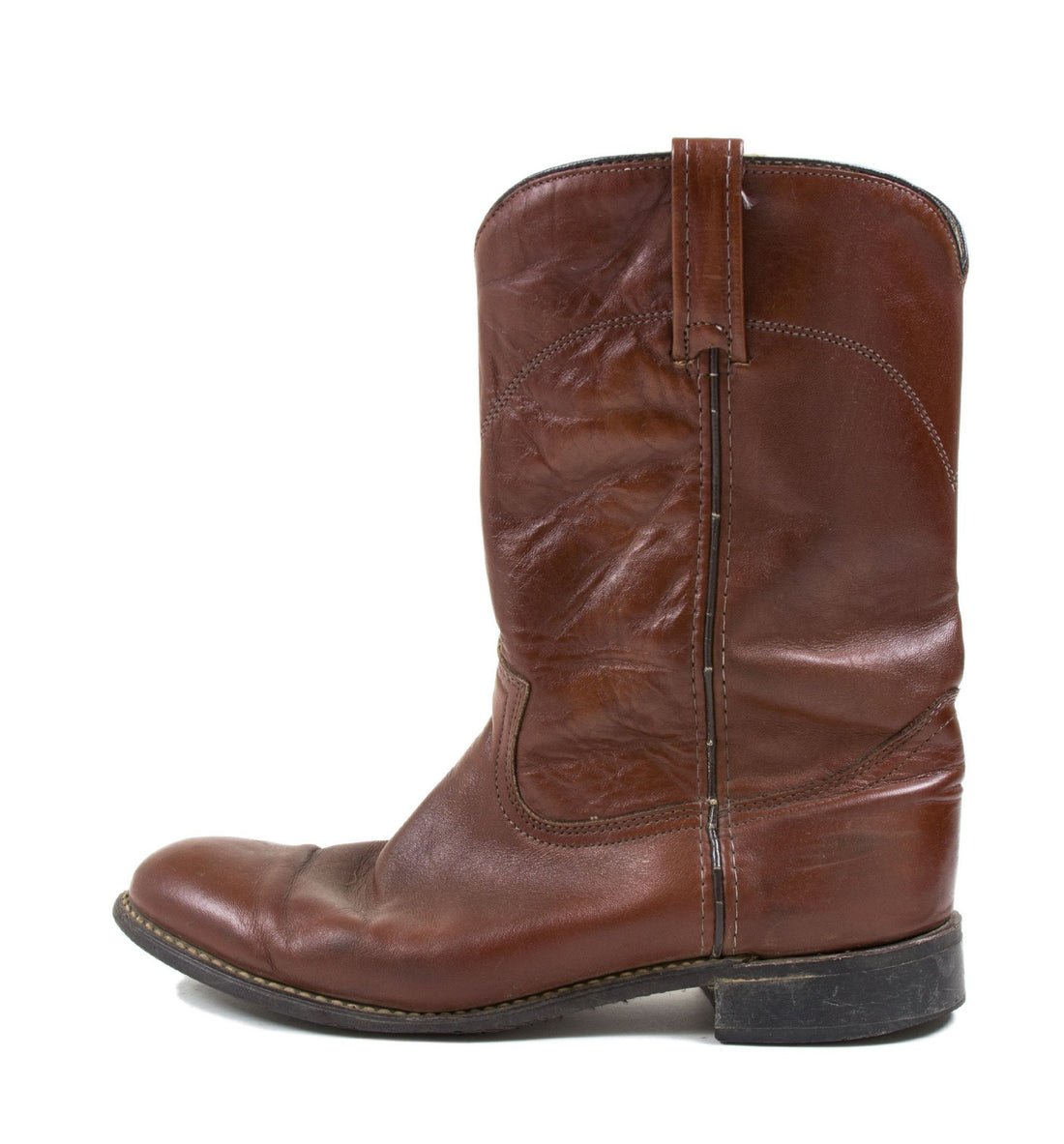 Vintage Brown Leather Boots- 9 - Vintage - Iron and Resin