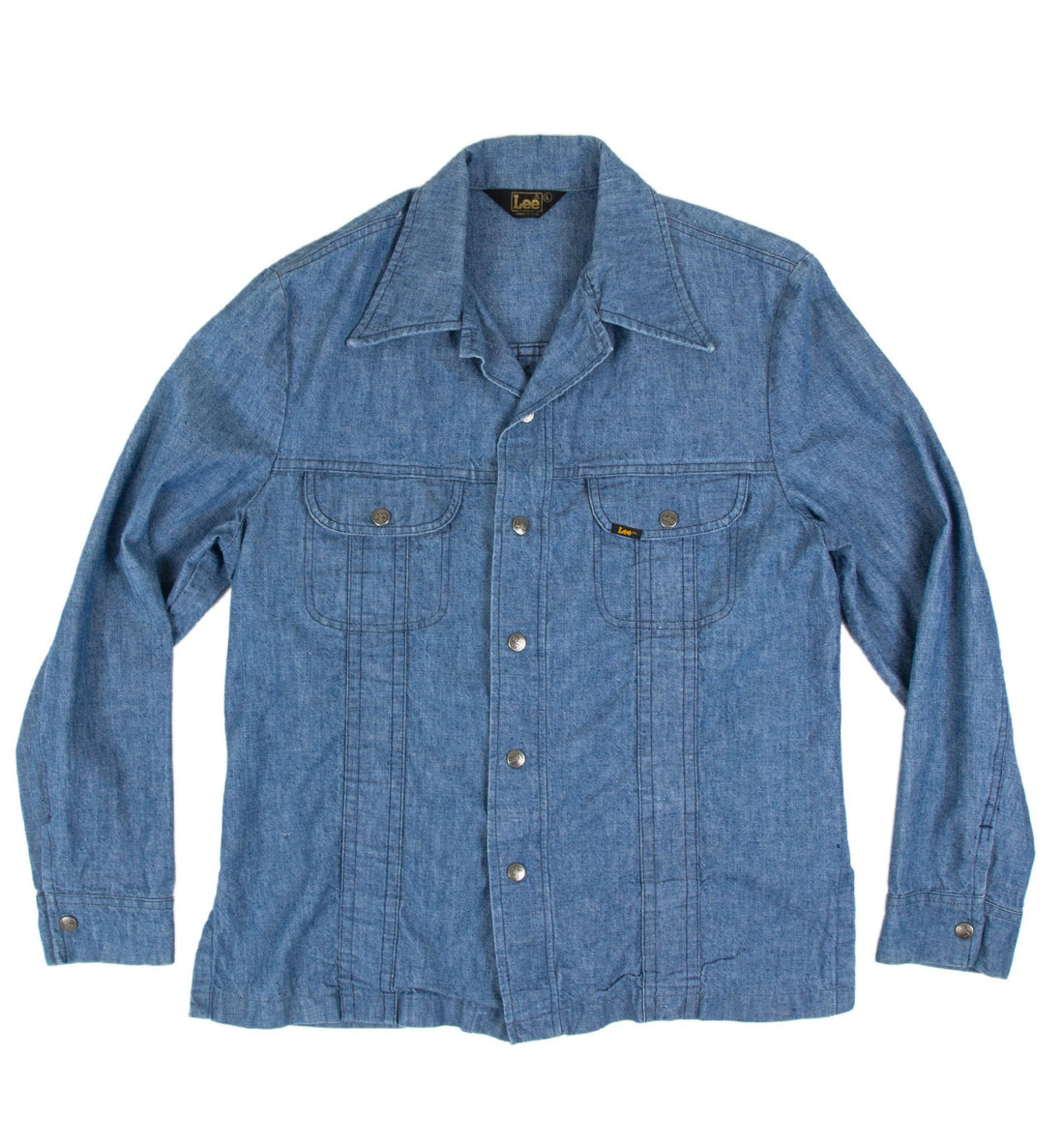 Vintage Chore Lee Men's Chambray Shirt - Vintage: Men's - Iron and Resin