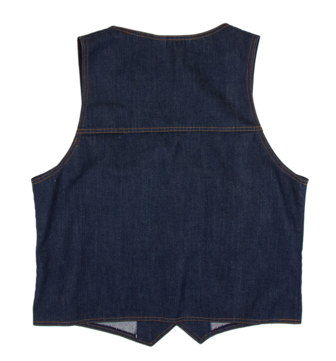 Vintage Denim Jean Vest- L - Vintage: Men's - Iron and Resin