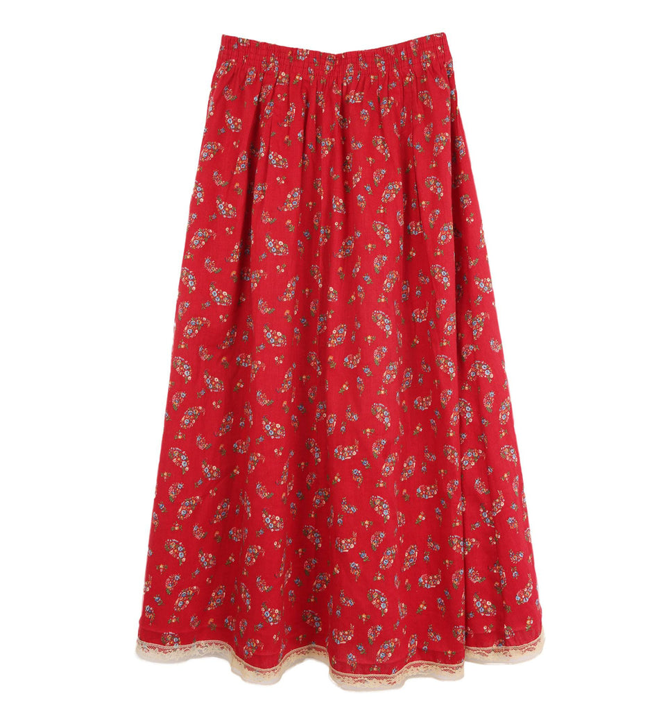 Vintage 60s Micro Floral/Lace Skirt