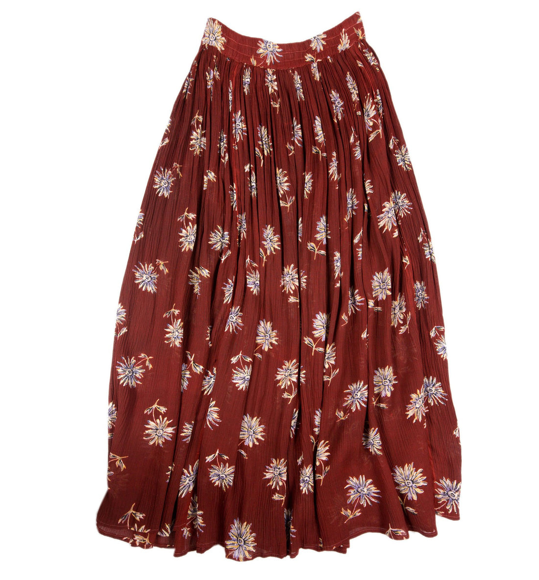 Vintage Red Floral Skirt - Vintage: Women's - Iron and Resin