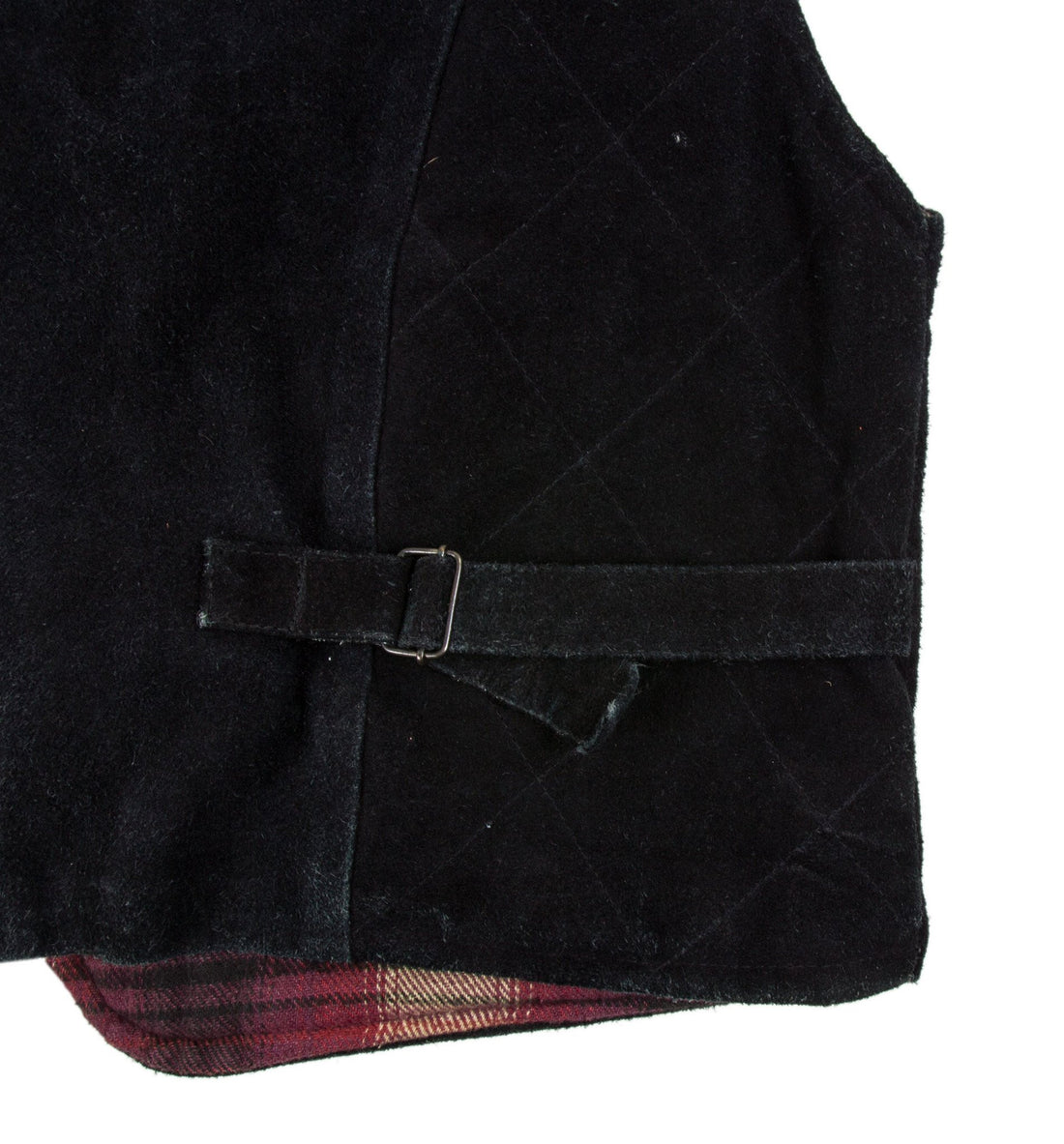 Vintage Men's Suede Patchwork Vest- M - Vintage: Men's - Iron and Resin