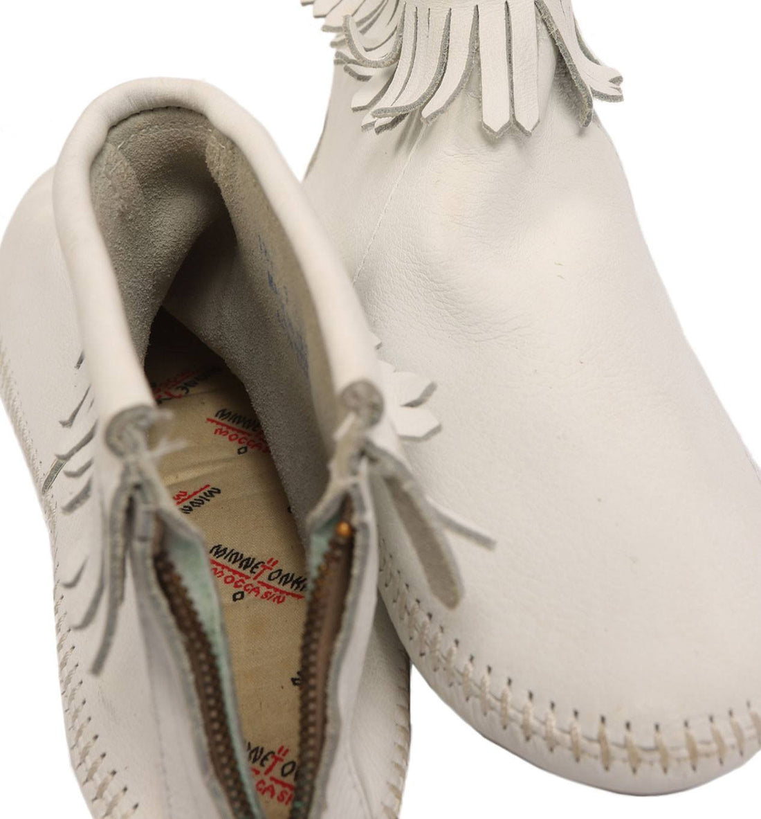 Vintage 60s White Minnetonka Moccasins - Vintage: Women's: Shoes - Iron and Resin