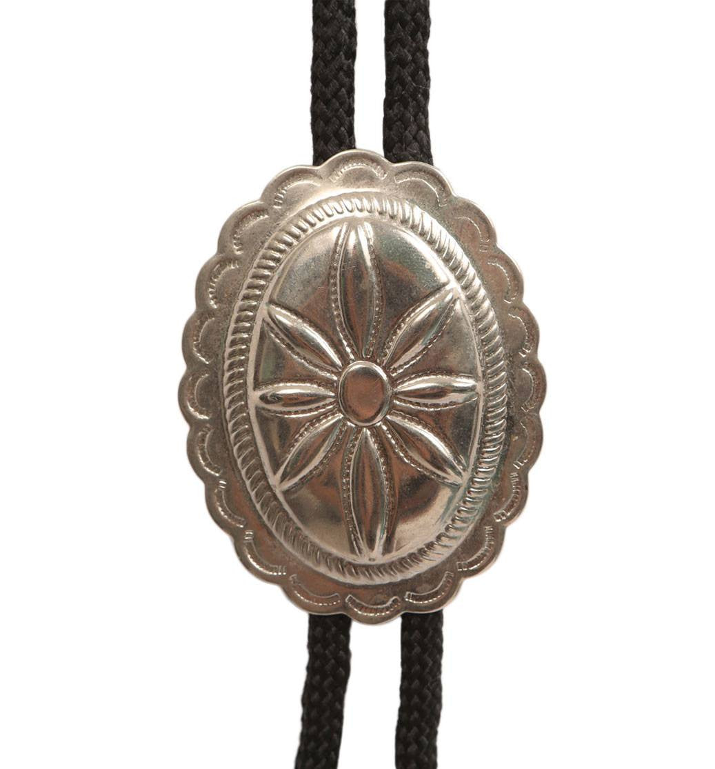 Vintage Concho Bolo Tie - Vintage: Other - Iron and Resin