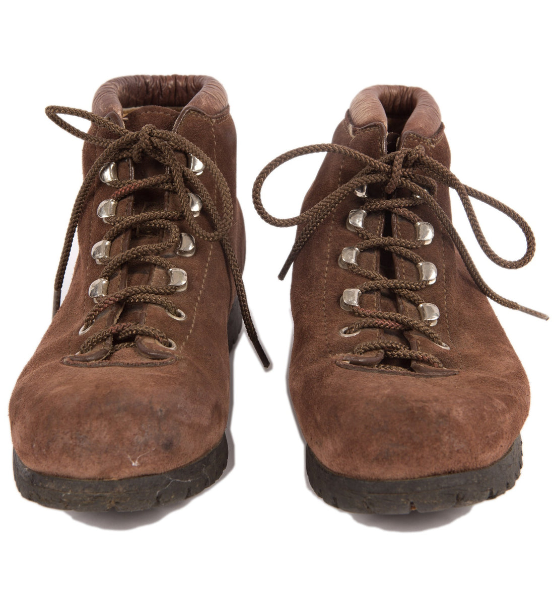 Vintage Dark Brown Hiking Boots, 7 - Vintage: Women's: Shoes - Iron and Resin