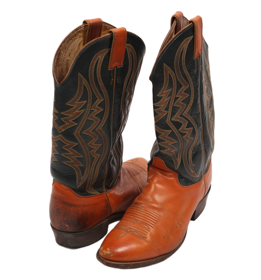 Vintage Leather Justin Boots - Vintage: Men's: Shoes - Iron and Resin