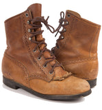 Vintage 70's Brown Justin Lace up Boots, 7 1/2